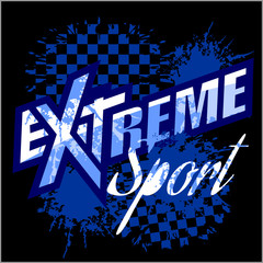 Vector eXtreme sport - vector logo for tshirt.