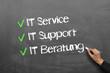 Leinwanddruck Bild - IT Service