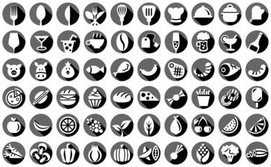 Essen und Trinken Vektor Icons