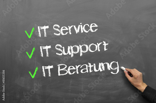 Leinwanddruck Bild IT Service