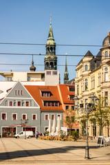 Zwickau Dom mit Fachwerkshäuser