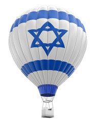 Hot Air Balloon with Israeli Flag (clipping path included)