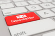 Leinwanddruck Bild - keyboard - newsletter - red