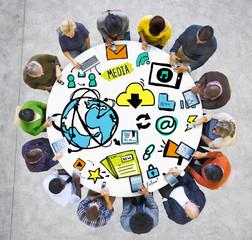 Diversity Casual Media Digital Devices Communication Concept
