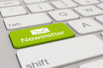 keyboard - newsletter - green