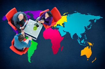 World Global Cartography Globalization International Concept