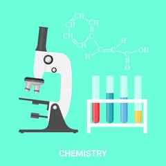 Chemistry concept, vector illustration