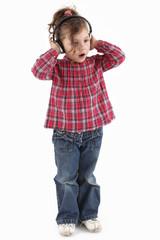 Kind mit Köopfhörer