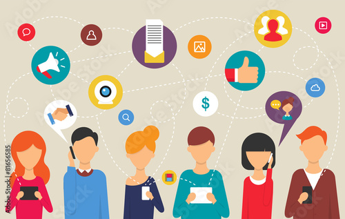 Social network and teamwork concept - 81656585