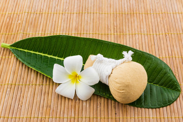 Spa herbal compressing ball.