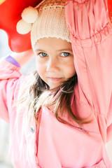 portrait of a little cute girl
