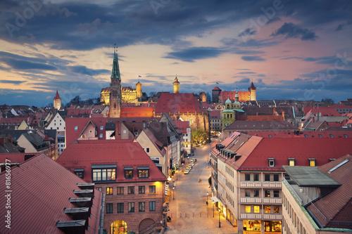 Leinwandbild Motiv Nuremberg.