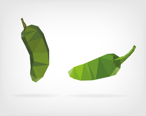 Low Poly Jalapeño Pepper