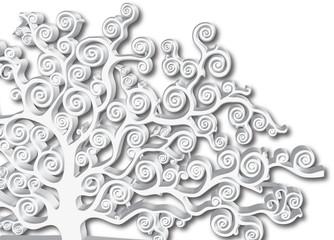 albero bianco tridimensionale