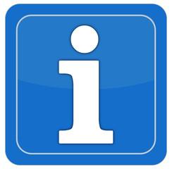 information symbol, blau