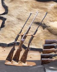 Collection de carabines de chasse