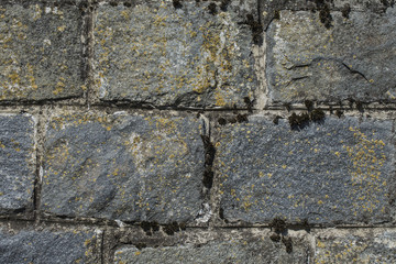 Old mossy stone wall