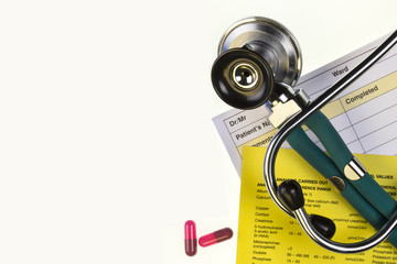 Medical Treatment - Stethoscope - Space for Text