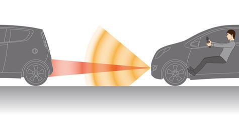 safety autonomous car and male driver