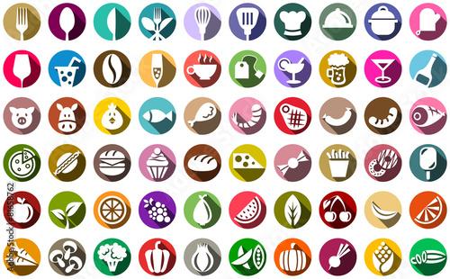 Essen und Trinken Vektor Icons - 81658762