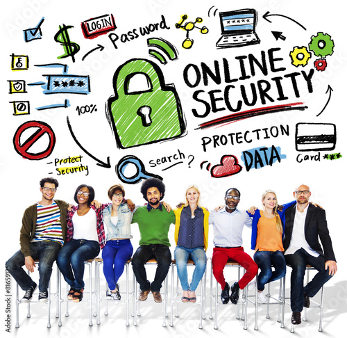 Online Security Protection Internet Safety People Friendship