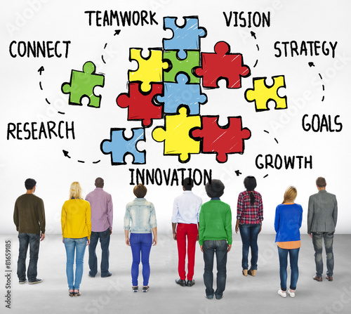 Teamwork Team Connection Strategy Partnership Support Puzzle
