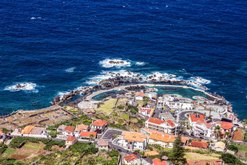 Panoramic view on Porto Moniz, Madeira island, Portugal