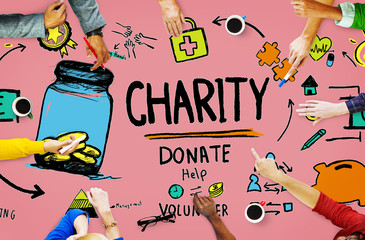 Charity Donate Help Give Sharing Support Volunteer Concept