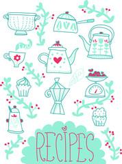 illustrazione quaderno ricette