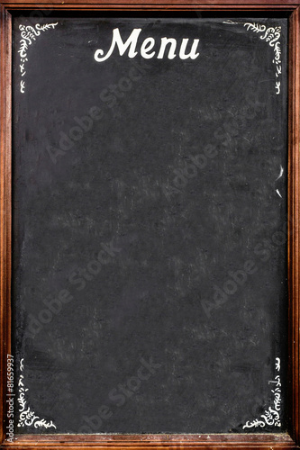 Papiers peints Table preparee Chalkboard menu