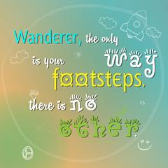 Wanderer vector illustration