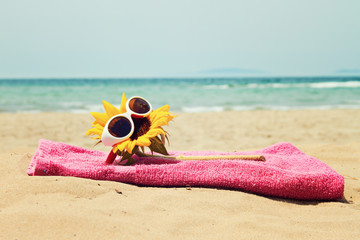 greeting card background - summer holidays