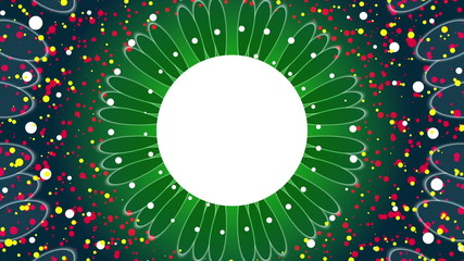 abstract loop motion green background, flower