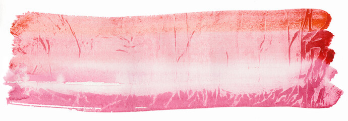 Texture watercolor smear in red tones isolated