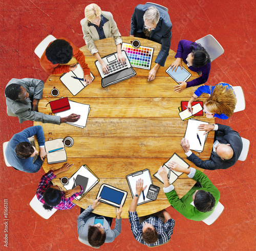 Group of People Business Meeting Brainstorming Concept