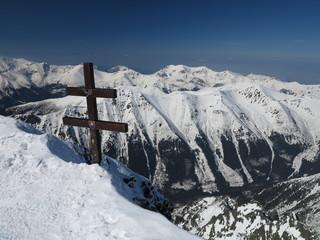 Snow mountains (High Tatras, Krivan Peak, Slovakia)