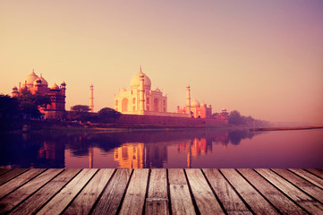 Taj Mahal India Seven Wonders Travel Destination Concept