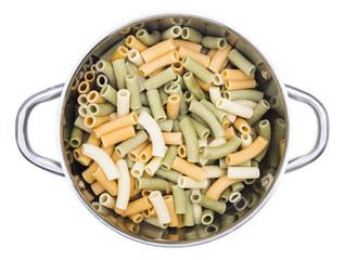 Pan with spaghetti