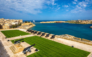 Saluting Battery at the Fort Lascaris in Valletta - Malta