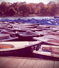 barques on the Serpentine rivers