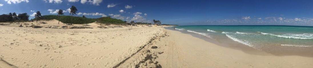 Relaxing at playa del este in La Havana, Cuba