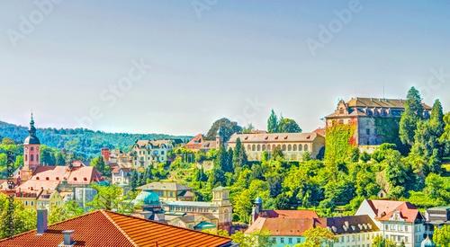 Leinwandbild Motiv Panorama - Blick ueber Baden-Baden