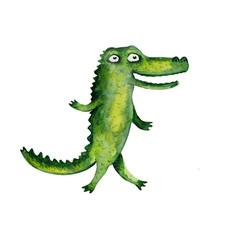 Crocodile. Watercolor illustration