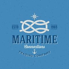 Retro Navy Trading Company Vector Label or Logo Template