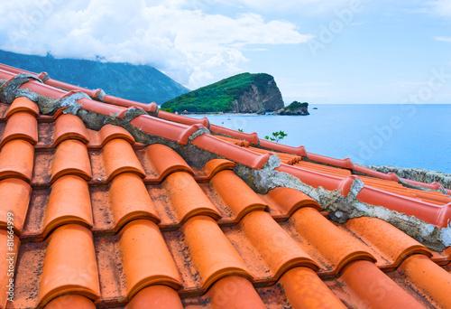 Leinwanddruck Bild Over the roofs