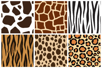 Animal skin. Seamless patterns