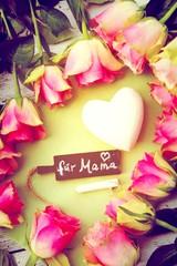 für Mama - Rosen mit Herz