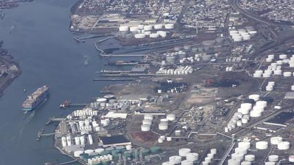 Industrial terminal aerial view