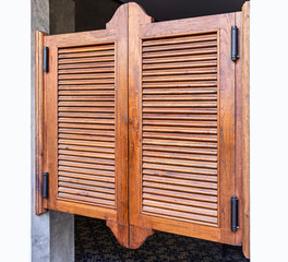 Weathered wooden ventilation louvers doors