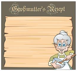 Grandma's Recipe Wooden Board